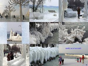 Der Genfer See im Winter