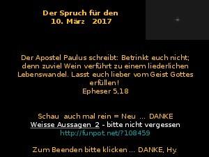 Der Spruch fuer 10.03.2017