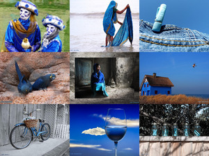 Blue - Blau (Bildermix)
