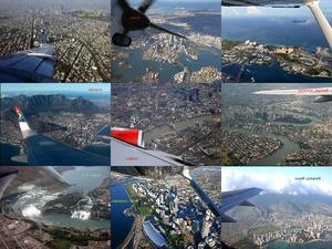 Staedte-Fotos - vom Flugzeug aus