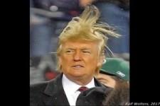 Die Frisur sitzt dank 3-Wetter-Trump