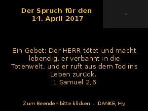 Der Spruch fuer 14.04.2017