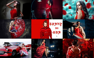Girls in Red 1 - Mädchen in Rot 1