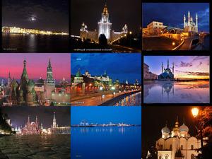 Russland in der Nacht