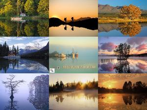 Wasser-Spiegelbilder