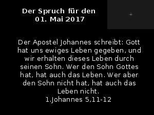 Der Spruch fuer 01.05.2017
