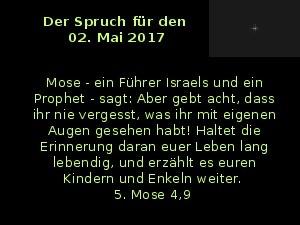 Der Spruch fuer 02.05.2017
