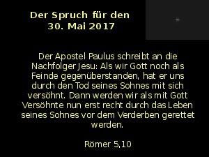 Der Spruch fuer 30.05.2017