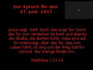 Der Spruch fuer 07.06.17