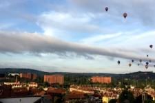 Heißluftballonstart