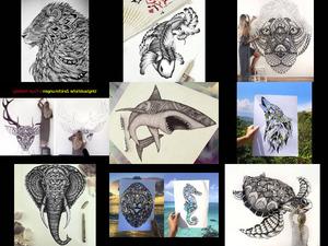 Unglaubliche Zeichnungen.Erika