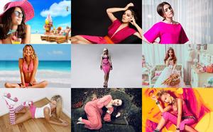 Girls in Pink 1 - Mädchen in Rosa