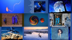 The colour blue 07 - Die Farbe blau 07 (Bildermix)