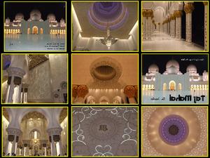 Abu Dhabi-Moschee Scheich Zayed von innen