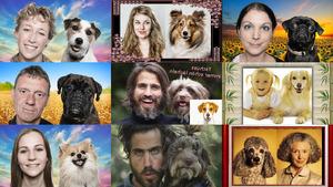 Ähnlichkeiten zwischen Herrchen und Hund