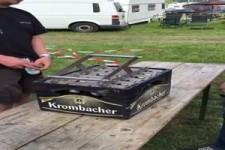 Mal schnell eine Kiste Bier öffnen