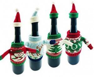 Weihnachtlicher Flaschenüberzug!