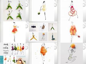 Foods and fashion - Lebensmittel und Mode
