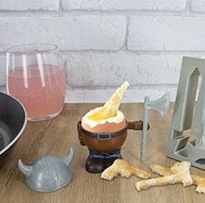Wikinger Eierbecher mit Toastschneider!