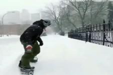 Snowboarding in der Stadt