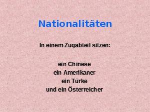 4 Nationen im Zugabteil
