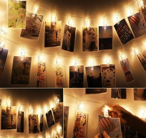 LED Foto Clips Lichterkette!