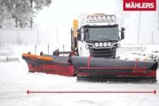 So räumt man Schnee in Schweden