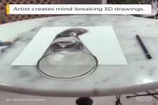 Künstler kreiert atemberaubende 3D-Zeichnung