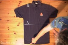 So legt man ein Shirt zusammen
