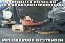 Diesel bei der Abgasuntersuchung