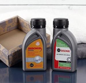 Duschgel für Männer im Motoröl-Design!