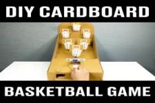 Baketball Tisch-Spiel selbst gebaut