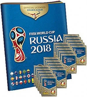 Panini WM Russia 2018 Album + 20 Sticker-Tüten!