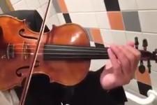 Motorradsound mit der Geige