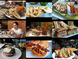 USA Sandwich für Sommer