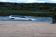Auto aus See fahren