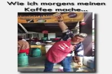 wie ich morgens meinen Kaffee mache