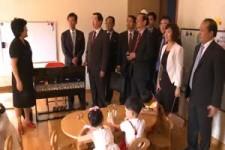 Besuch im Kindergarten Nord Korea