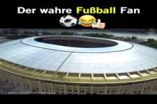 der wahre Fußball Fan