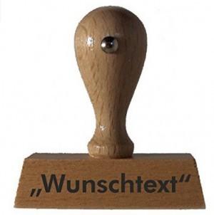 Sprüche-Stempel mit Wunschtext!