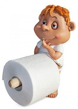 Toilettenpapierhalter Lausbub!