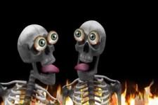 Skelett-Party