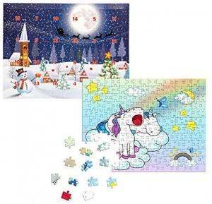 Puzzle-Adventskalender in der Einhorn-Edition!