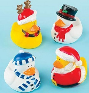 Lustige Weihnachts-Badeenten!