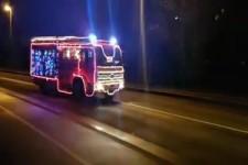 Die Feuerwehr in Hagen/Westf. ist festlich im Einsatz.