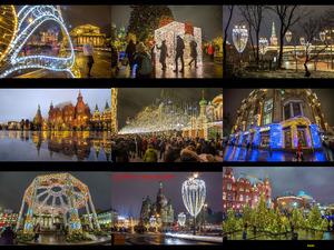 Nieuw jaar in Moscou - Neues Jahr in Moskau