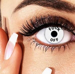 Crazy weiße Kontaktlinsen!