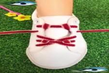 Schuhe binden mal anders