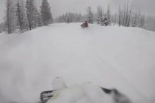 Ziemlich tief der Schnee