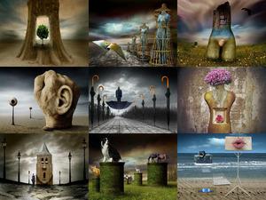 Besondere surrealistische Fotografie